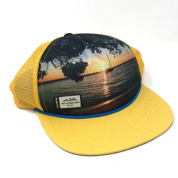 e4d9915c59e25 Kavu Above the Lid Tip Dip SnapBack Hat Sunset O S